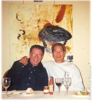 Fausto De Compadri in un momento felice con Morihiro Saito