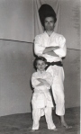 1969 - S.S. Monopoli Judo Roma, con Danilo Chierchini Sensei