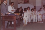 1972 - S.S. Monopoli Judo Roma - Riceve la cintura verde dal Maestro Tommaso Betti Beruto