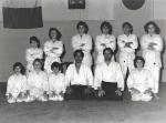 1977 - Dojo Centrale Roma, con H. Hosokawa Sensei Foto di Gruppo Corso Ragazzi, secondo da sinistra in piedi