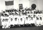 1978 - Dojo Centrale Roma, Foto di gruppo Corso Adulti - con H. Hosokawa Sensei, sesto da destra, prima filain piedi