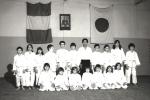 1979 - Dojo Centrale Roma - Foto di gruppo Corso Ragazzi con H. Hosokawa Sensei, quinto da sinistra in piedi