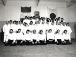 1979 - Dojo Centrale Roma - Foto di gruppo Corso Adulti con H. Hosokawa Sensei, settimo da sinistra, prima filain piedi