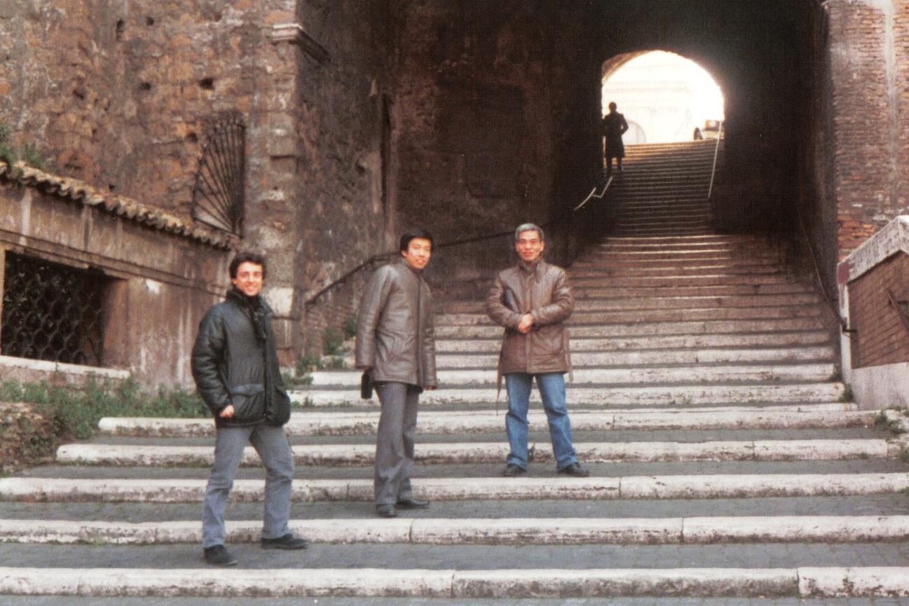 1983 - Roma - Con Moriteru Ueshiba Sensei e H. Hosokawa Sensei