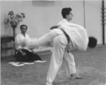 1984 - Dojo Centrale Roma - Esame Shodan con H. Tada Sensei