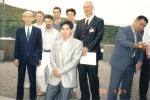 1989 - World Games in Karlsrue, Germany - con Doshu Kisshomaru Ueshiba, Y. Fujimoto, Y. Kobayashi, G. Veneri