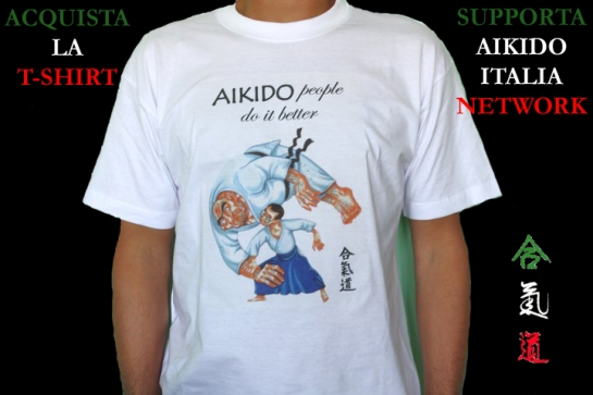 Acquista la T-Shirt, Supporta Aikido Italia Network