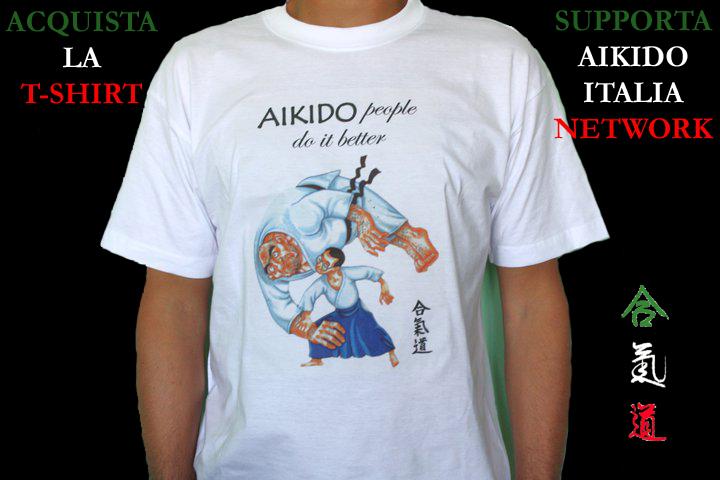 Acquista la T-Shirt, Supporta Aikido Italia Network