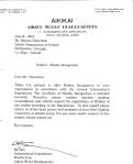 2001 - Lettera Hombu Dojo per il riconoscimento dell'Aikido Organisation of Ireland