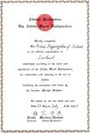 2001 - Certificato Aikikai Hombu Dojo per il riconoscimento dell'Aikido Organisation of Ireland