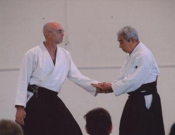 Angelo Armano con Hideo Hirosawa Sensei