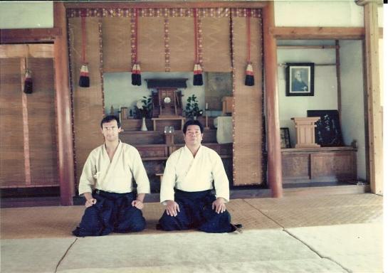 Claudio Pipitone e Morihiro Saito Sensei a Iwama