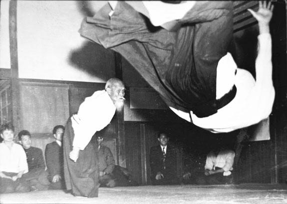 Ueshiba Morihei - Tada Hiroshi 1958
