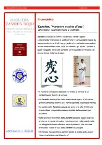 Quaderno Tecnico 1: Zanshin