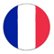 France Flag Button 60X60
