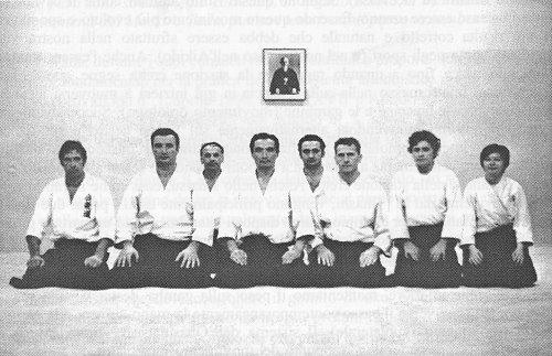 1967 circa, Mantova. Da sinistra in prima fila: De Compadri, Veneri, Tada, Lusvardi. Copyright musubi.it