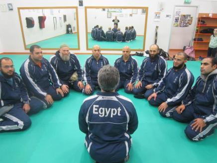 Il corpo insegnante dell'associazione Takemusu Aikido Egypt