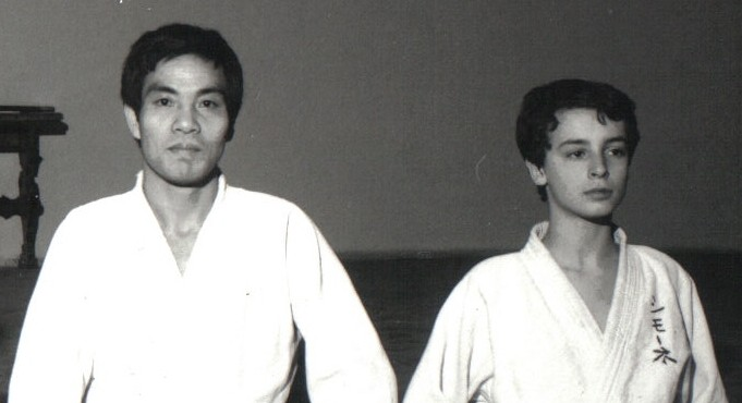 1979 - Dojo Centrale Roma - with Hideki Hosokawa