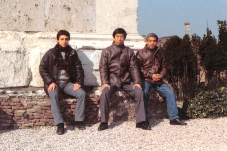 1983 - Roma - with Moriteru Ueshiba and Hideki Hosokawa