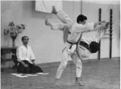 1984 - Dojo Centrale Roma - Shodan grading with Hiroshi Tada
