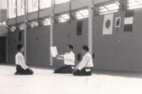 1985 - Coverciano - Receving Shodan certificate by Hiroshi Tada