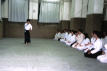 1991 - Milano - Taking class at the Aikido Dojo Fujimoto