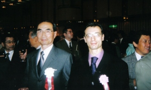 With Hiroshi Tada Shihan at the 70th Anniversary of Aikikai Foundation