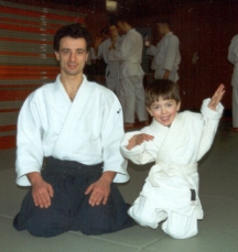 2001 - Galway, Ireland - with 3 years old son Luke