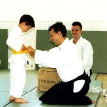 2004 - Sligo, Ireland - with son Luke, 10th Kyu