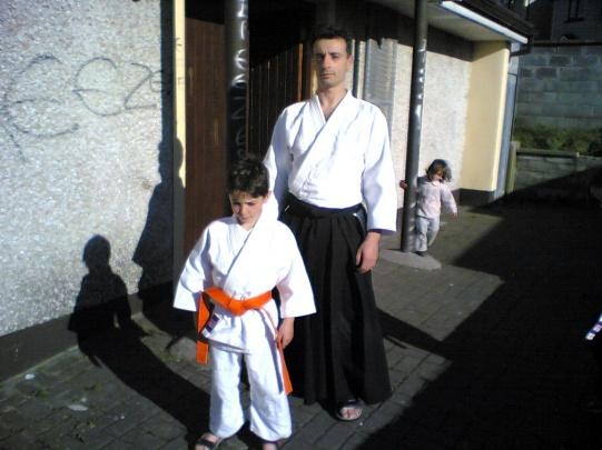 2005 - Sligo, Ireland - with son Luke 9th Kyu