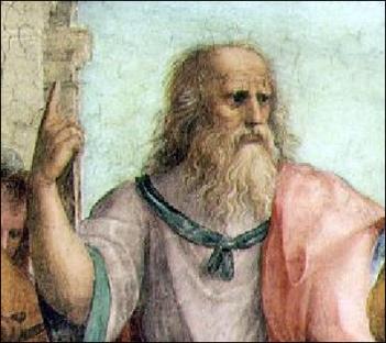 Platone nella famosa immagine michelangiolesca della cappella Sistina