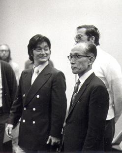 Yoshimitsu Yamada e Kisshomaru Ueshiba