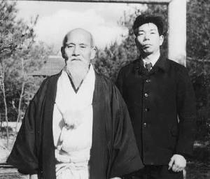 Morihiro Saito con il Fondatore