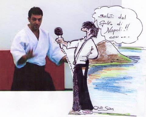 L'Ovoreporter sventola il suo microfono viruale davanti a Fabio Branno