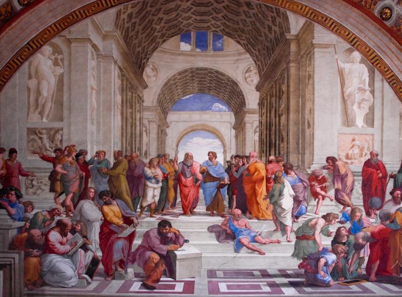 L'Accademia di Platone come immaginata da Michelangelo