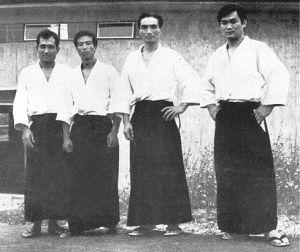 Raduno Estivo Aikikai d'Italia 1972: M. Ikeda, K. Asai, H. Tada, T.K. Chiba