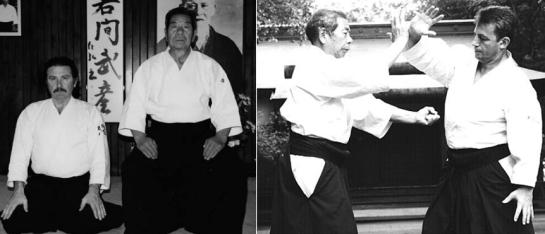 P. Corallini & D. Toutain con il loro comune mentore, Morihiro Saito