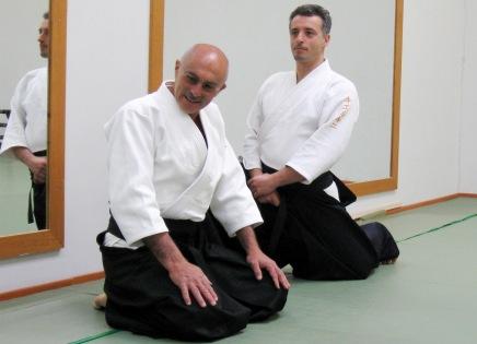 Angelo e Simone assieme nel corso di un loro seminario a Vasto