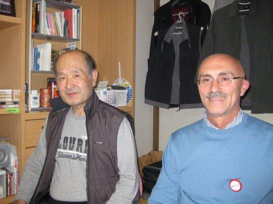 Il caro vecchio Masatomi Ikeda con l'amico Angelo Armano