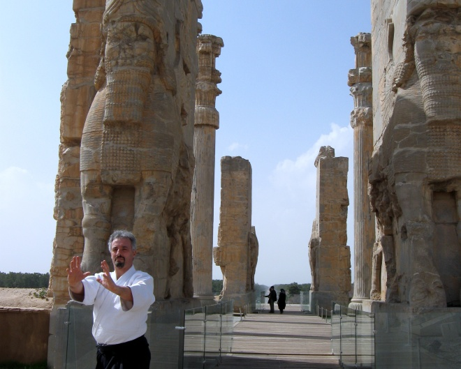 Aikido action with Simone Chierchini in Persepolis, Iran